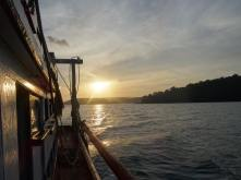Boatside sunset