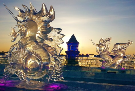 Ice sculpture Harbin snow and ice world 2018