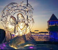Ice sculpture at Harbin snow and ice world 2018