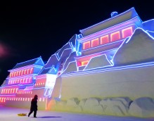 Snow buildings at Harbin snow and ice world 2018