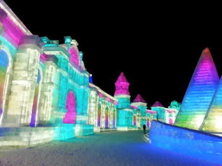 Ice buildings at Harbin snow and ice world 2018