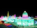Panorama of snow and ice world 2018 from the hilltop